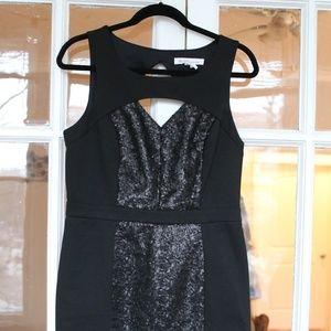 BCBG Black Sequin minidress - size 12